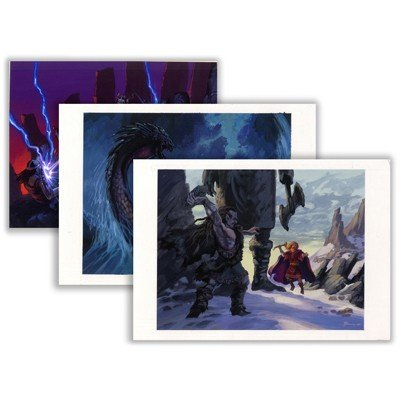 "8: Original Production Paintings from ""Thor's Hammer"""