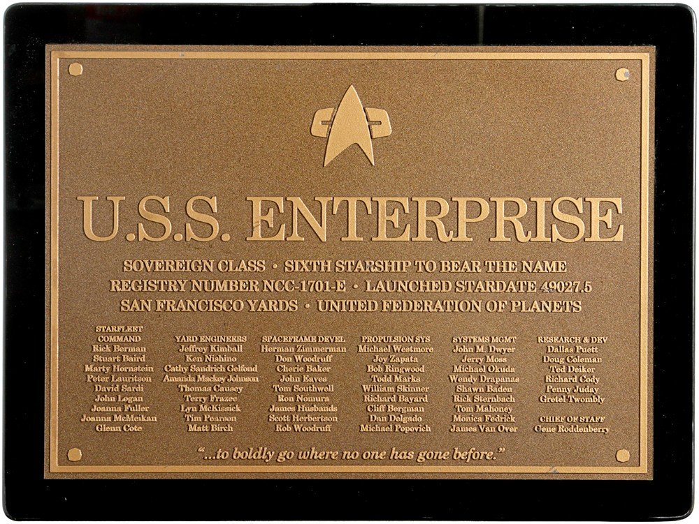 23: Star Trek: Nemesis Enterprise-E Wall Plaque