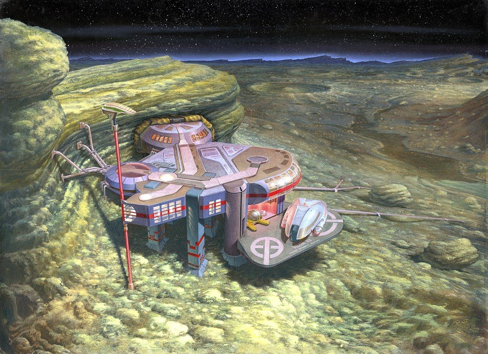 59: Star Trek Velara III Matte Painting