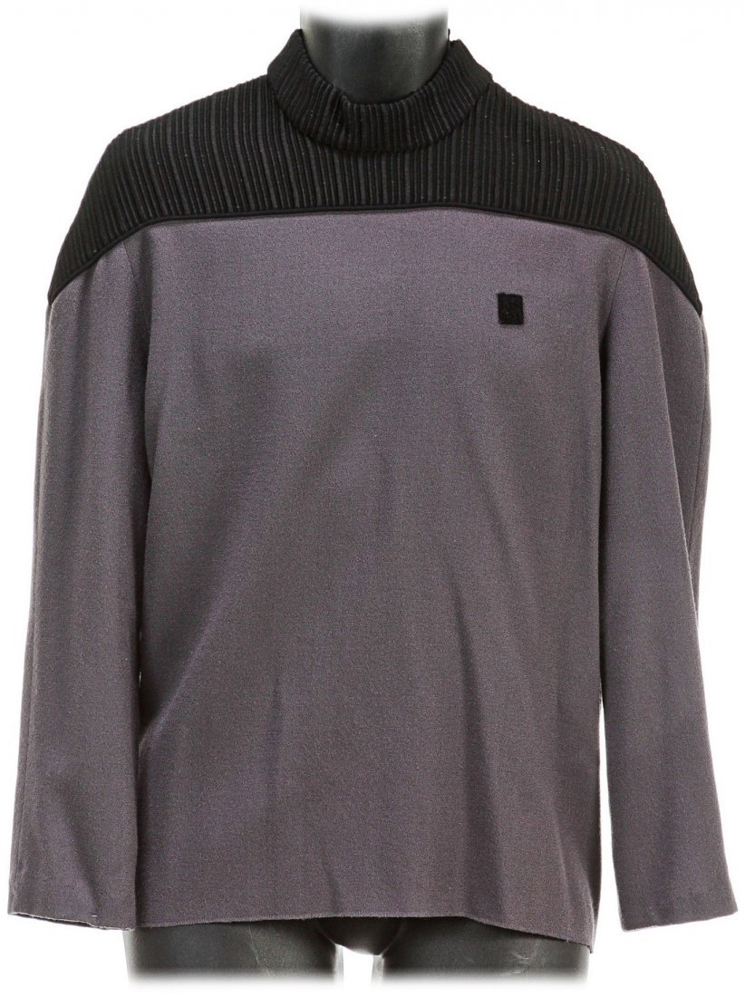 Star Trek: The Next Generation Captain Picard Gray Top