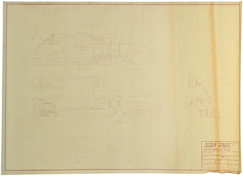 Star Trek: Deep Space Nine Runabout Shuttle Blueprint