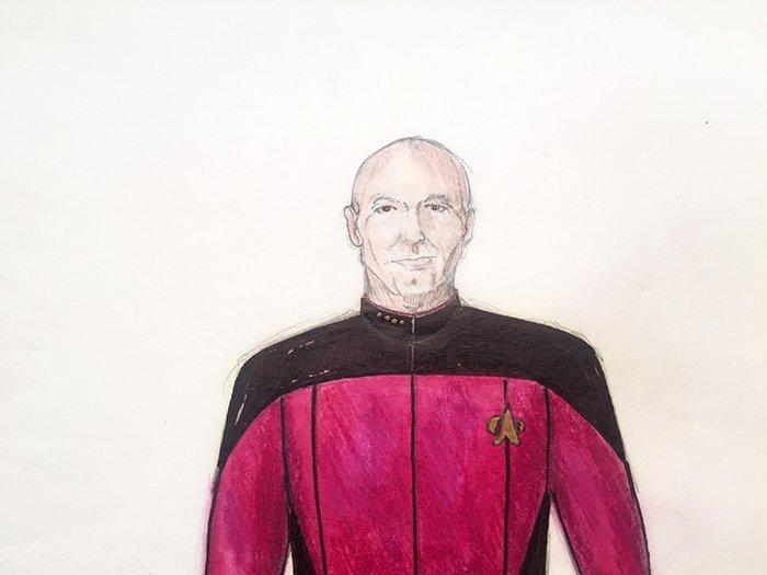 Star Trek: TNG Captain Picard Concept Illustration - 2