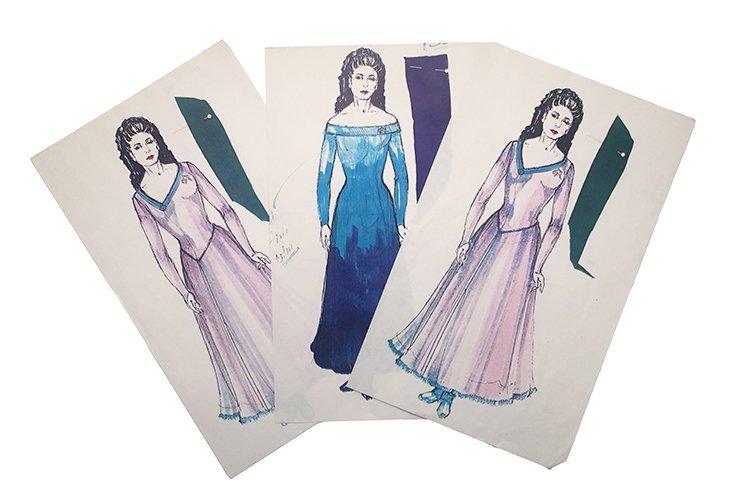 Star Trek: TNG Deana Troi Original Concept Artwork Set