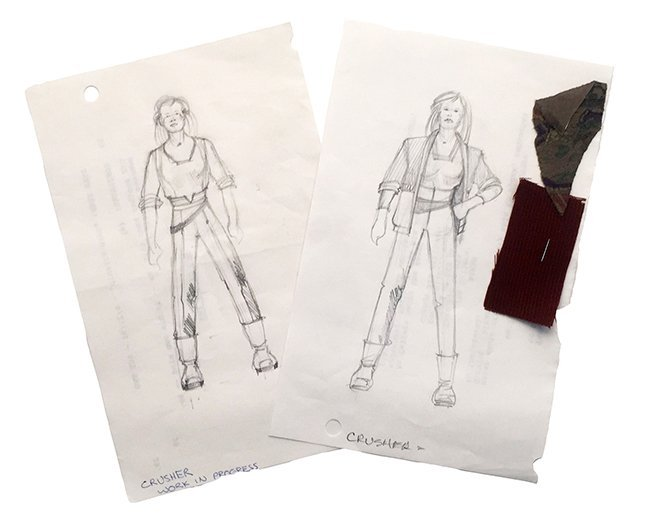 Star Trek: TNG Crusher Civillian Wardrobe Concept Set