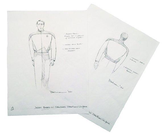 Star Trek: TNG Starfleet Jacket Concept Illustrations