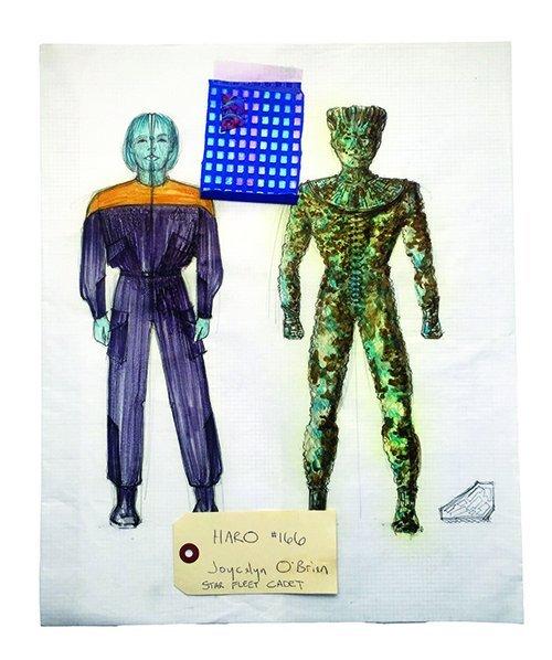 """Star Trek: TNG Original """"Cadet Haro"""" Concept Artwork"""