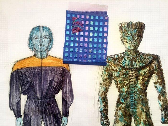 """Star Trek: TNG Original """"Cadet Haro"""" Concept Artwork - 2"""