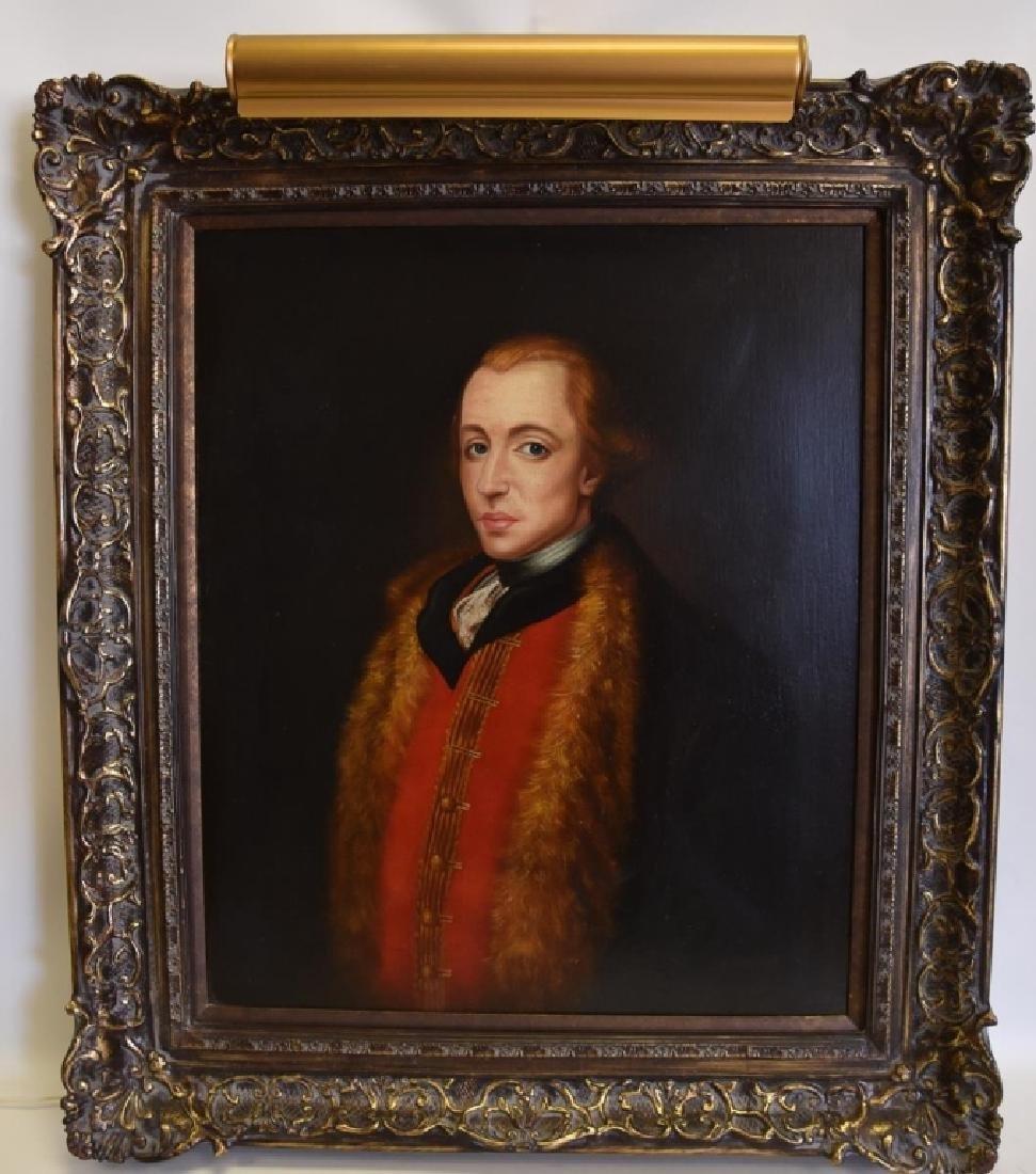R. Parkison Portrait in Ornate Frame