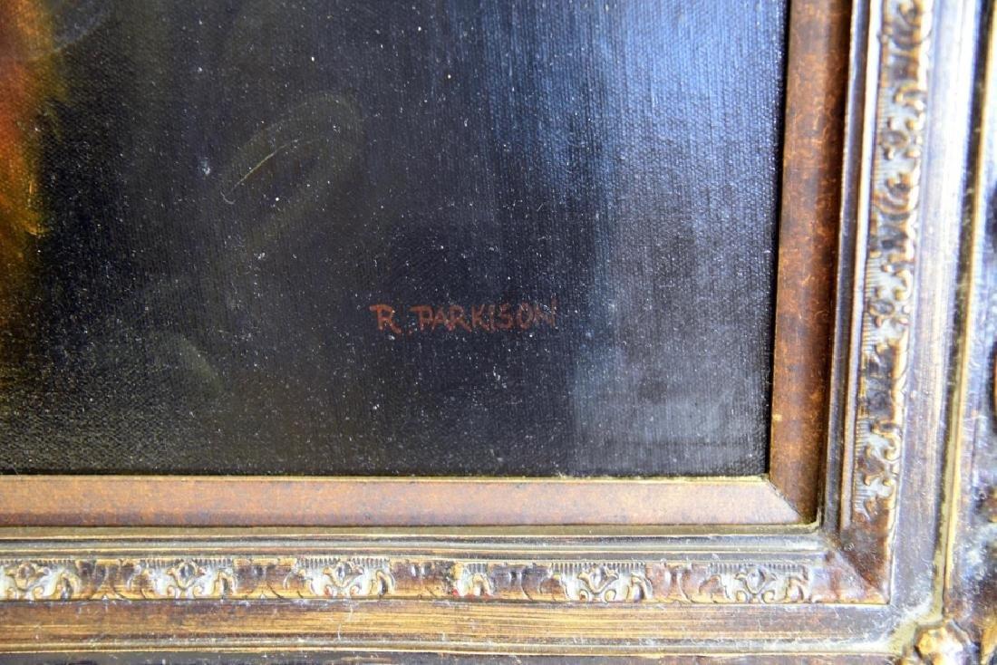 R. Parkison Portrait in Ornate Frame - 2