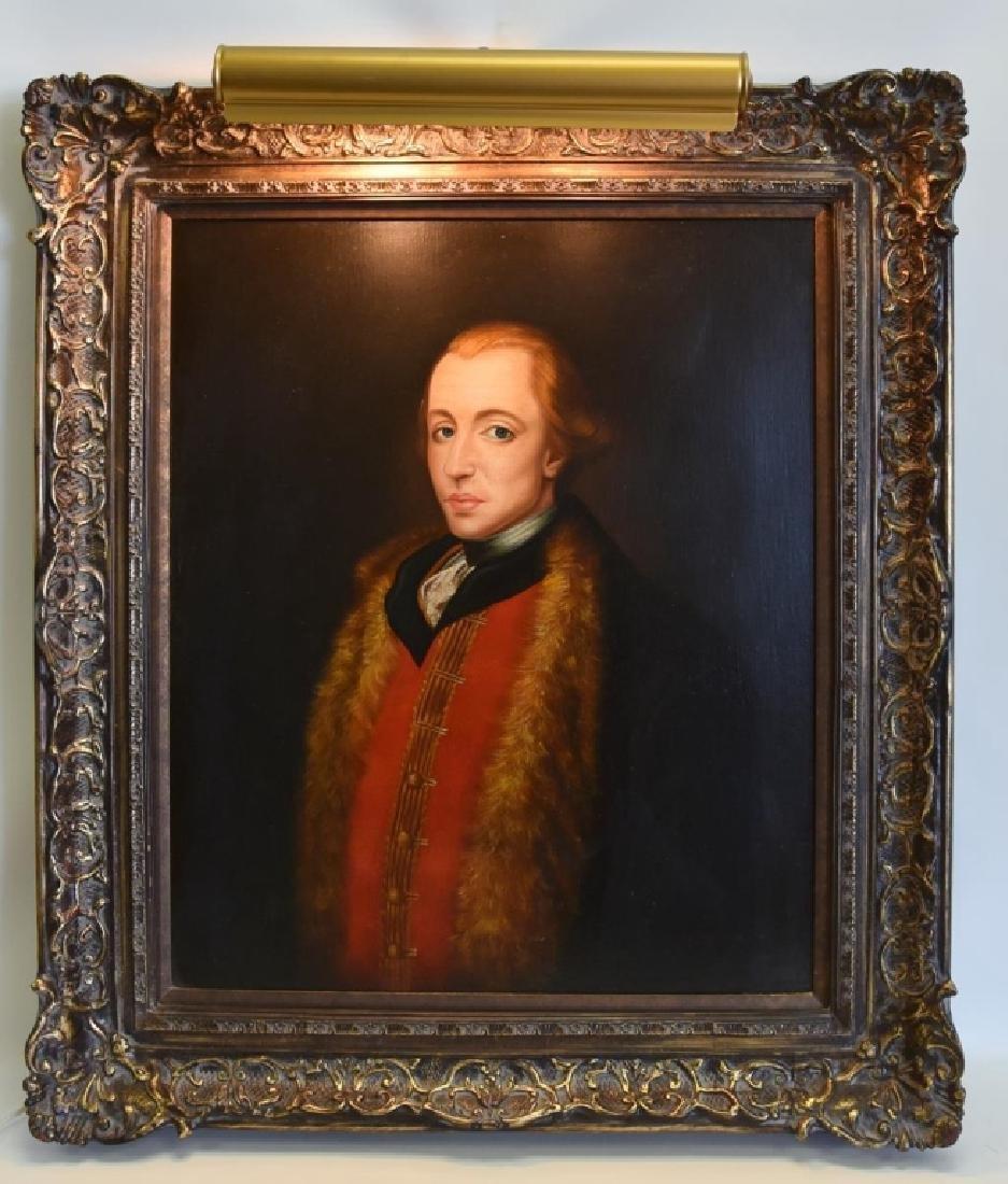 R. Parkison Portrait in Ornate Frame - 4