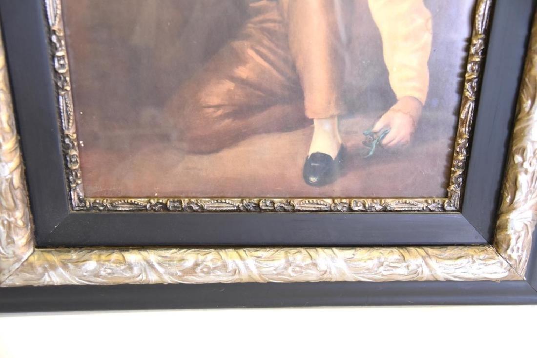 Boy w/Rabbit Print in Victorian Frame - 3