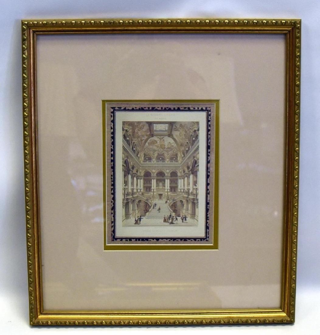 3 Gold Framed Le Nouvel Opera Prints - 10