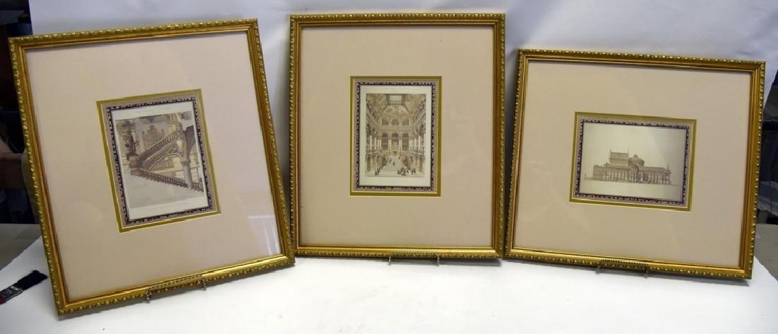 3 Gold Framed Le Nouvel Opera Prints