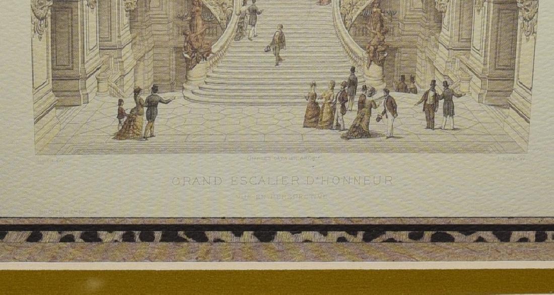 3 Gold Framed Le Nouvel Opera Prints - 3