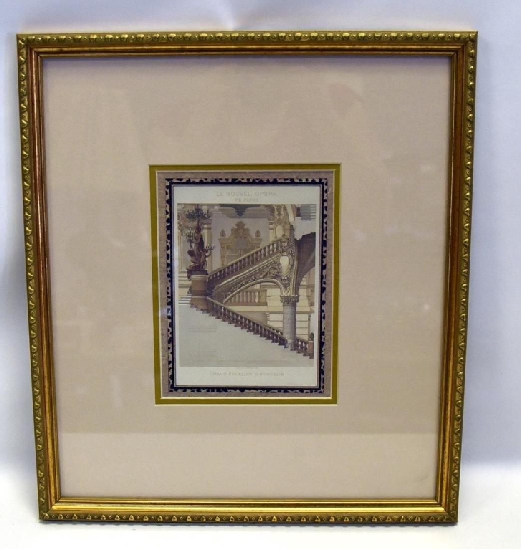 3 Gold Framed Le Nouvel Opera Prints - 7