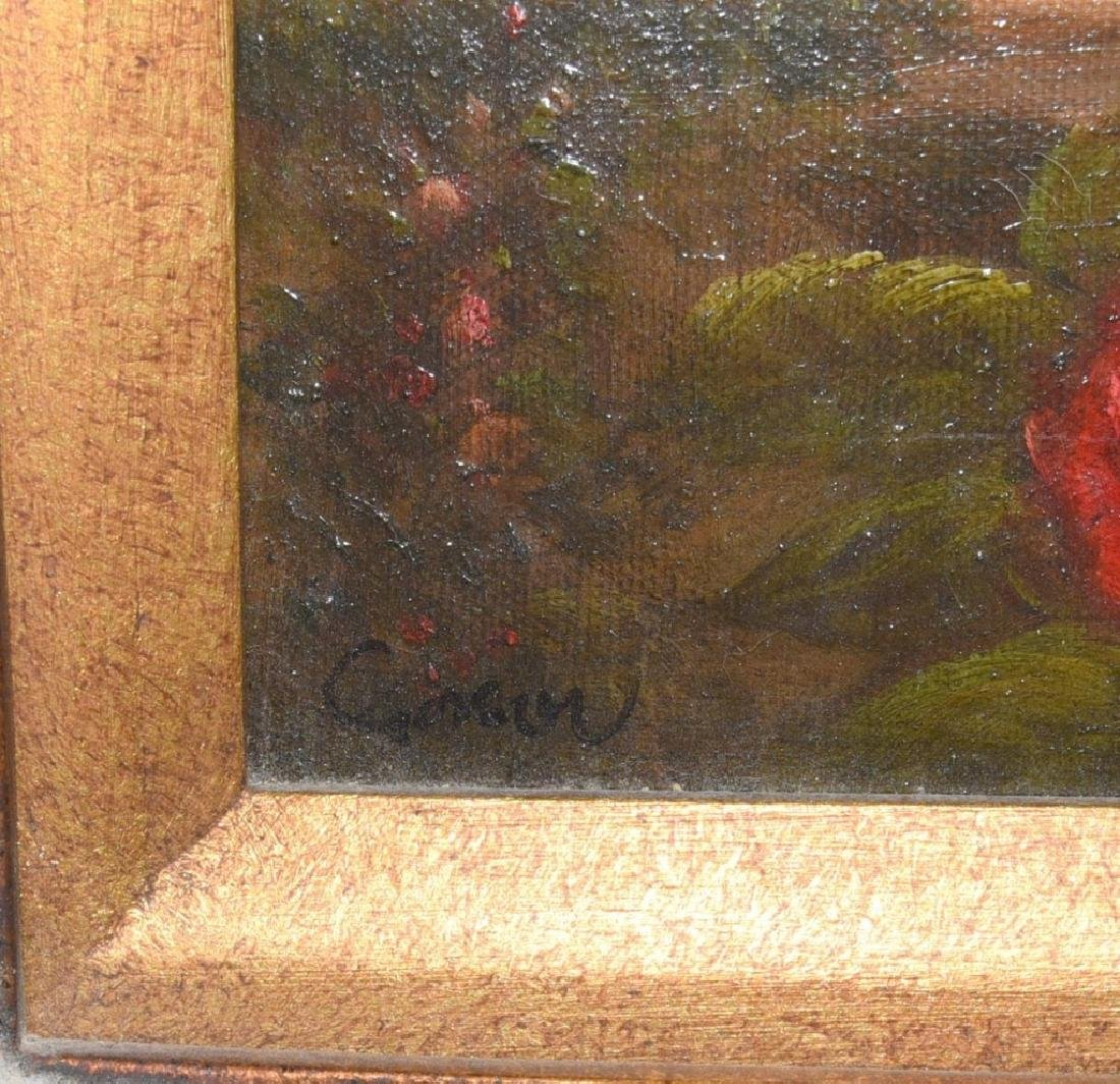 Oil on Canvas Monkey in Wide Ornate Gold Frame - 2
