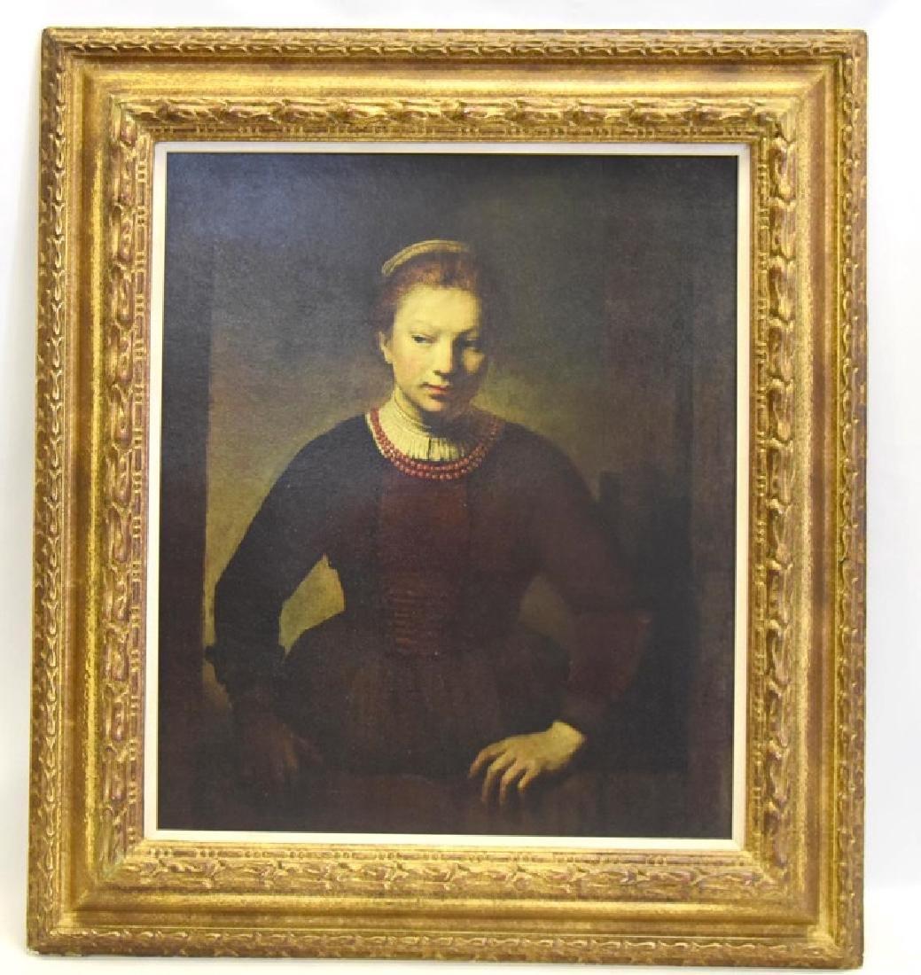 ArtLore Rembrandt's Girl At Half Open Door