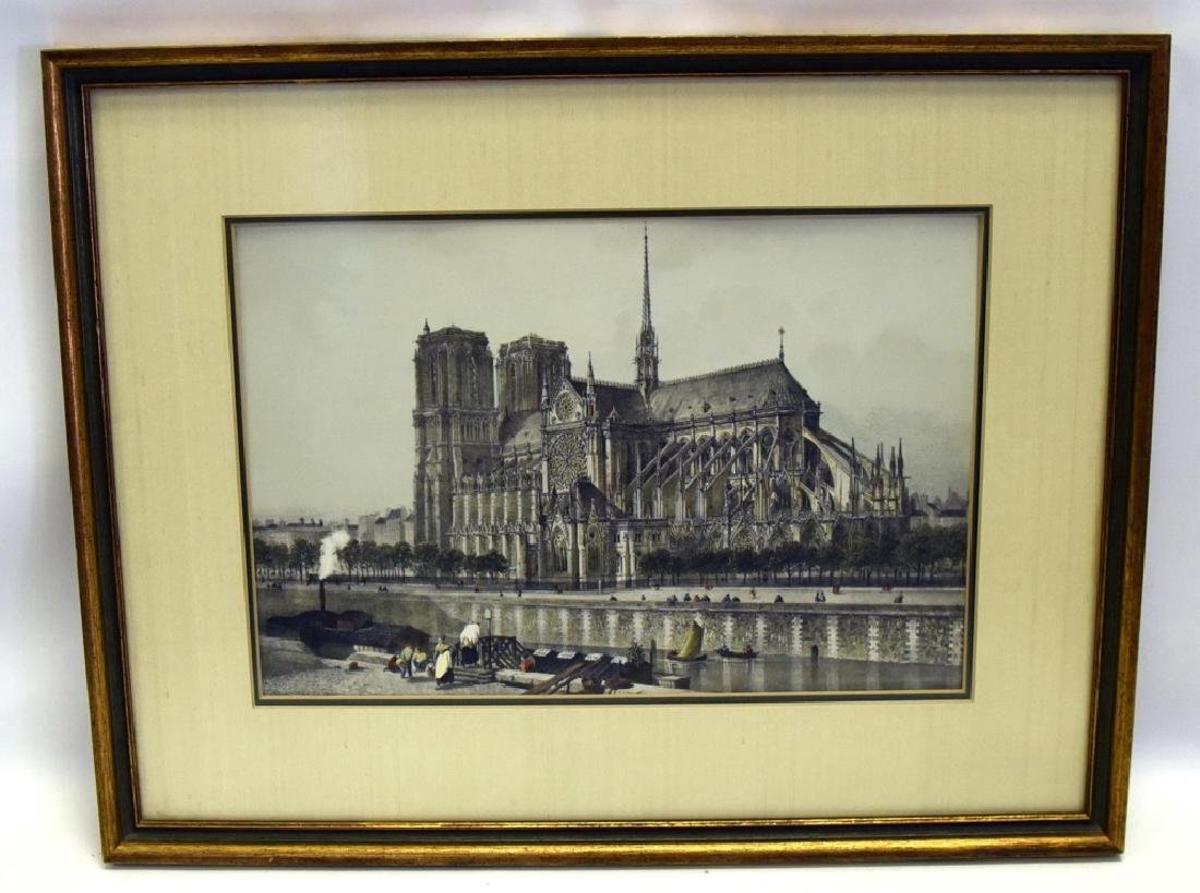 Notre Dame Cathedral Colored Print