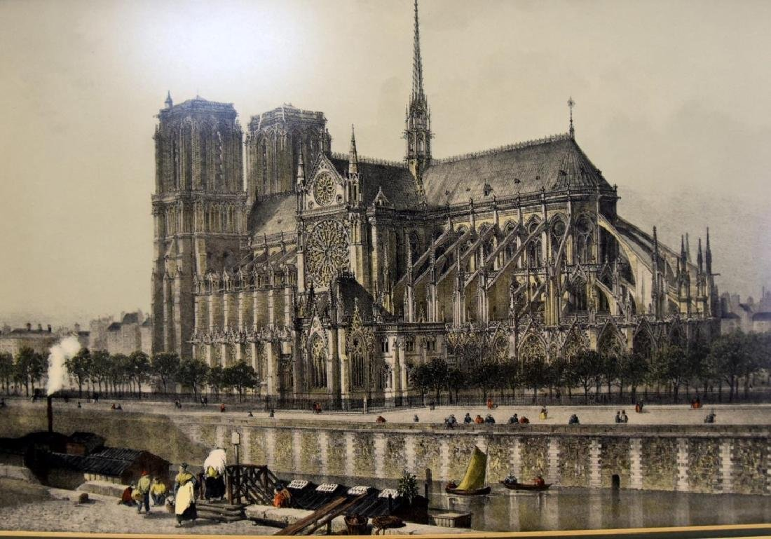 Notre Dame Cathedral Colored Print - 2