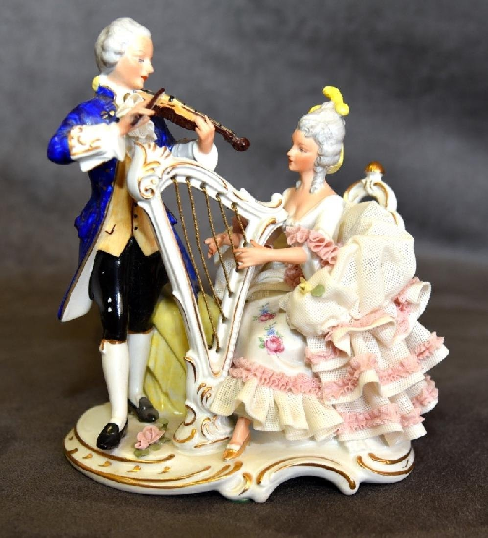 West Germany Figurine w/Musicians in Period Dress