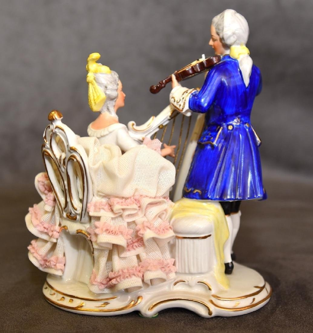 West Germany Figurine w/Musicians in Period Dress - 4