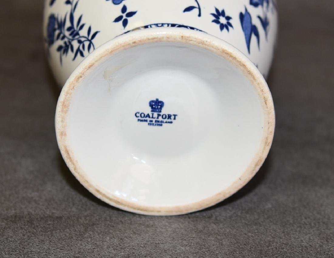 Coalport Blue & White Footed Vase - 2