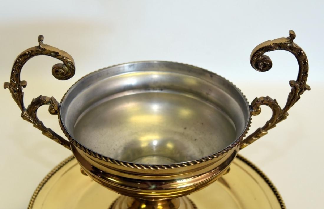 Gadroon Bordered Brass Centerpiece & Platter - 2