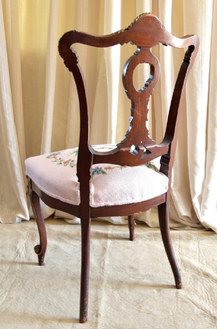 Louis XVI Style Side Chair w/Needlepoint Seat - 4