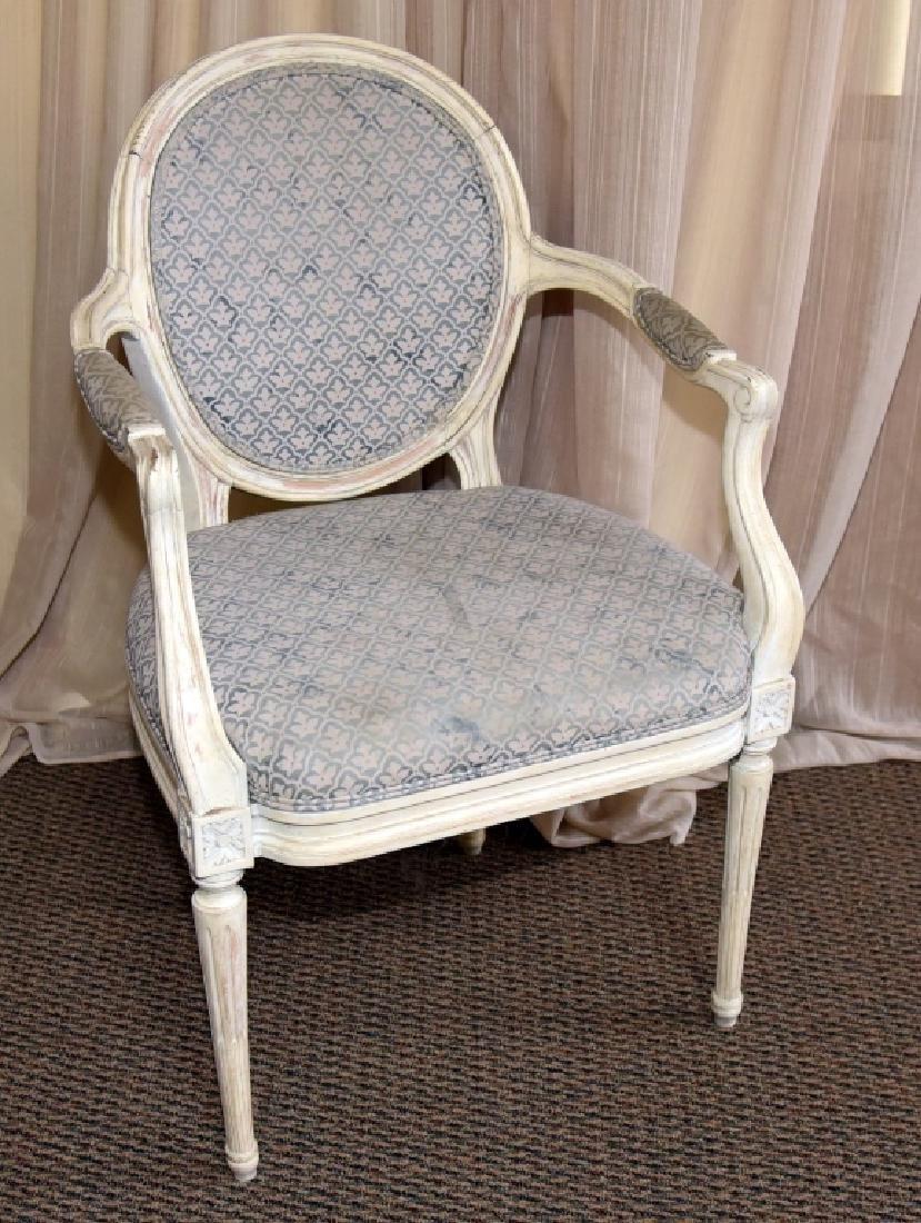 Louis XVI Style Fauteil Oval Back Chair