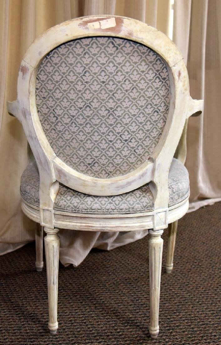 Louis XVI Style Fauteil Oval Back Chair - 2