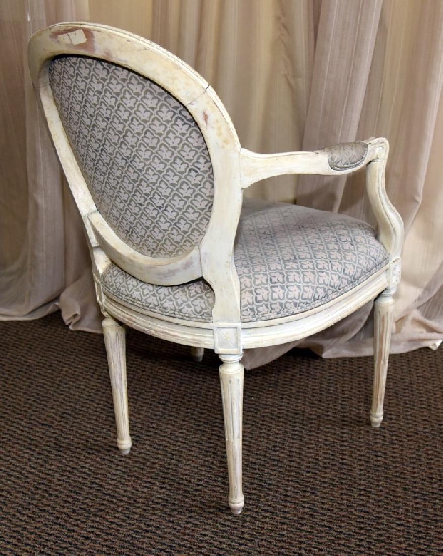 Louis XVI Style Fauteil Oval Back Chair - 3