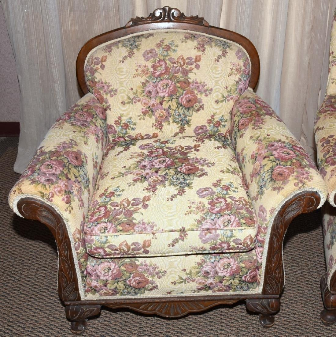 1930s Mr. & Mrs. Upholstered Chairs - 2
