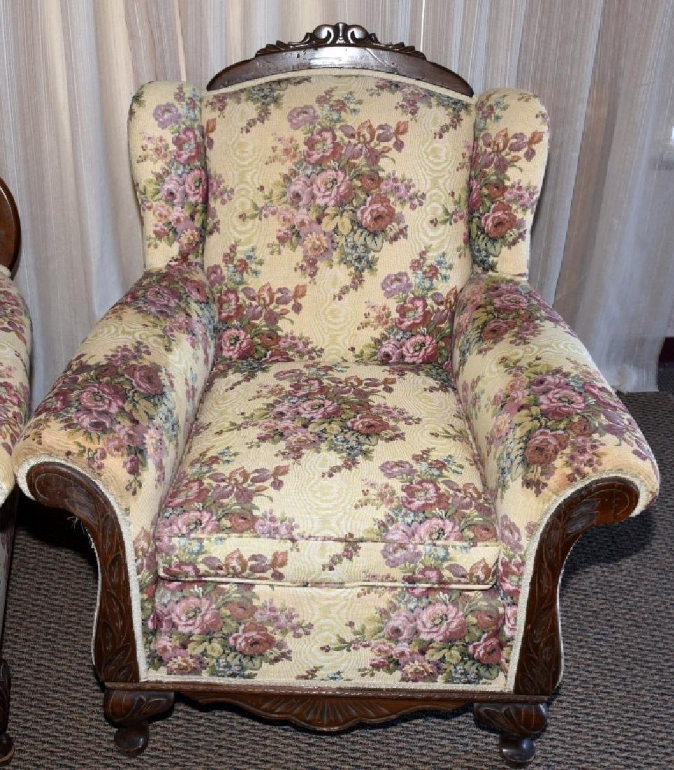 1930s Mr. & Mrs. Upholstered Chairs - 3