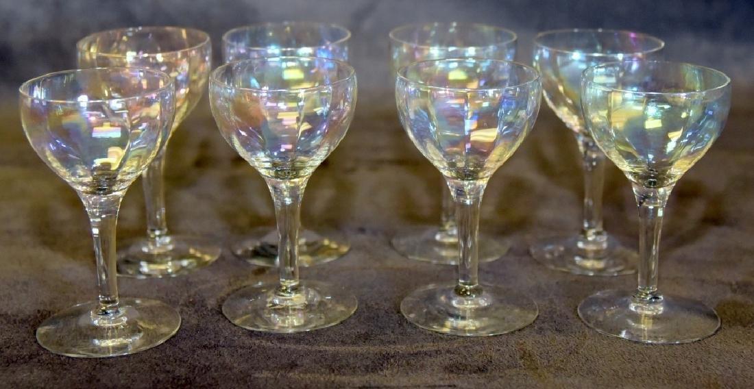 8 Paneled Iridescent Liquor stems