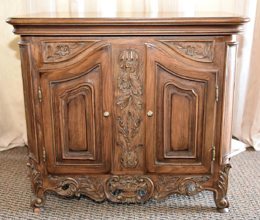 2-Door Cabinet w/Composite Decoration