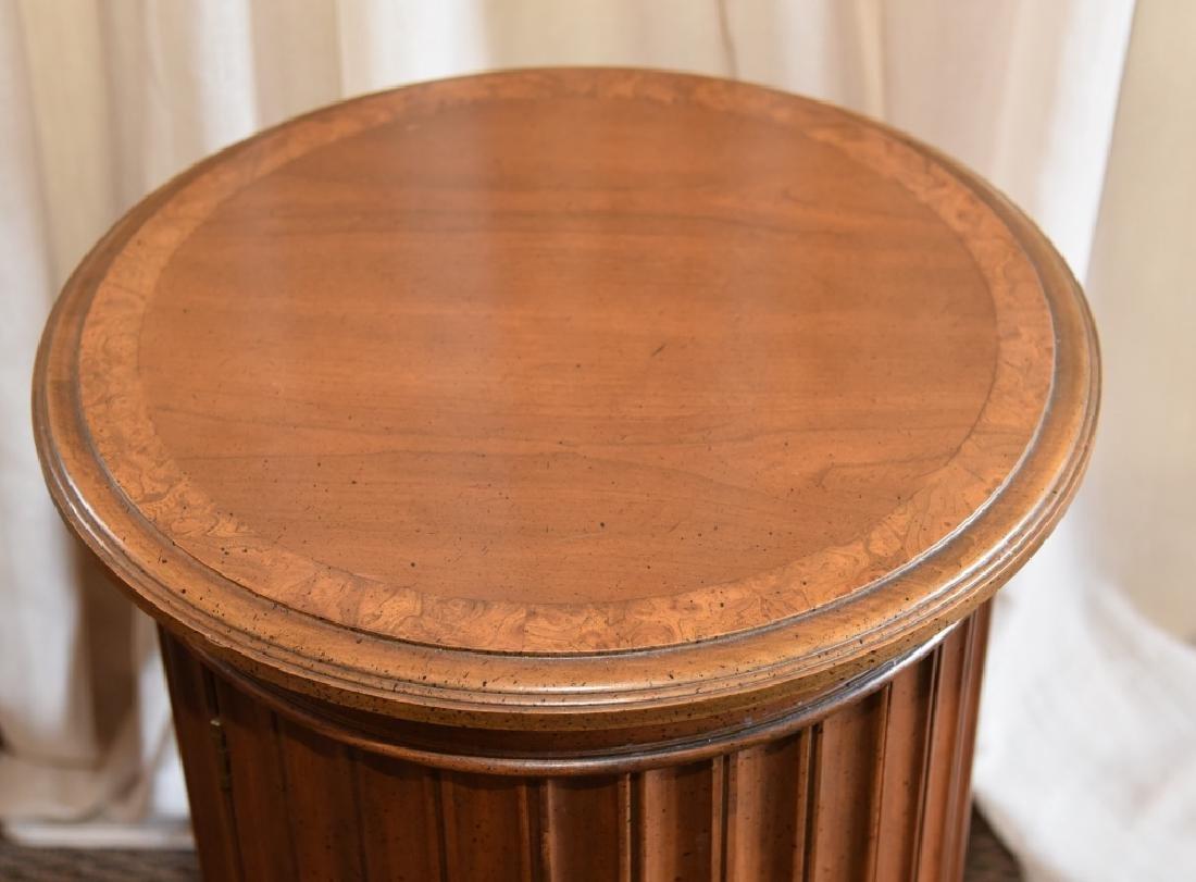 Burl Wood Round Storage Cabinet - 2