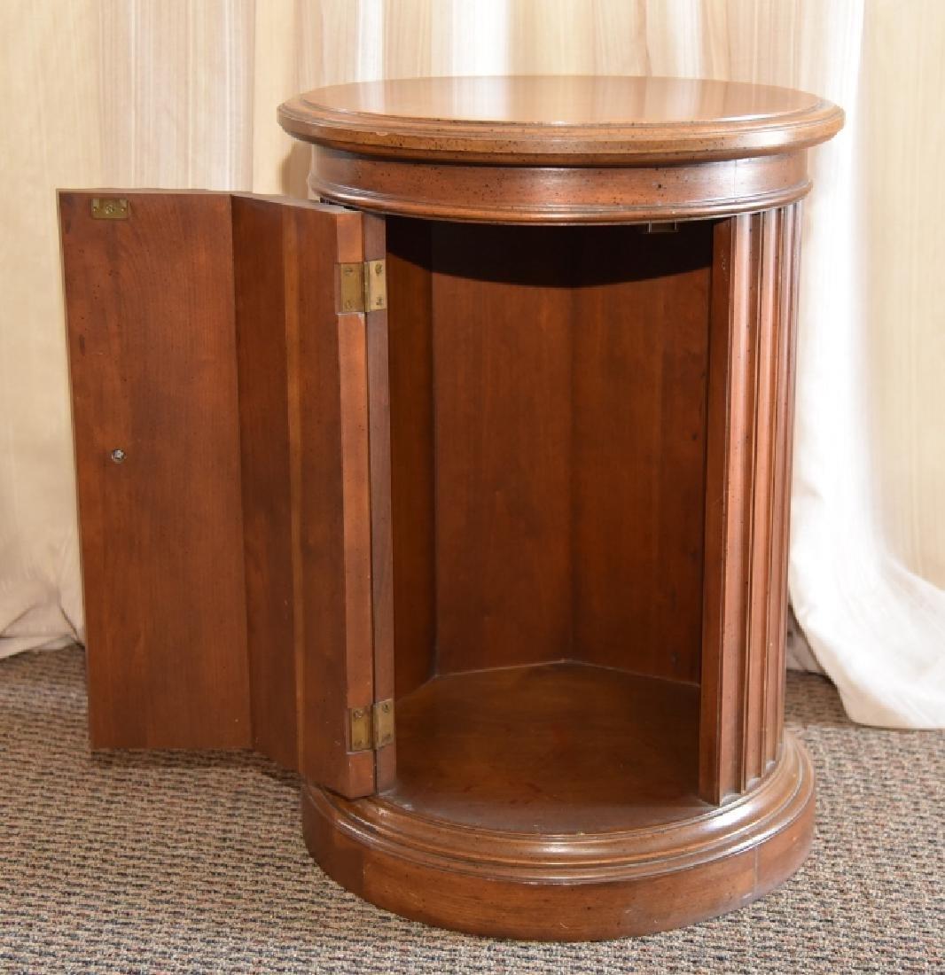 Burl Wood Round Storage Cabinet - 3