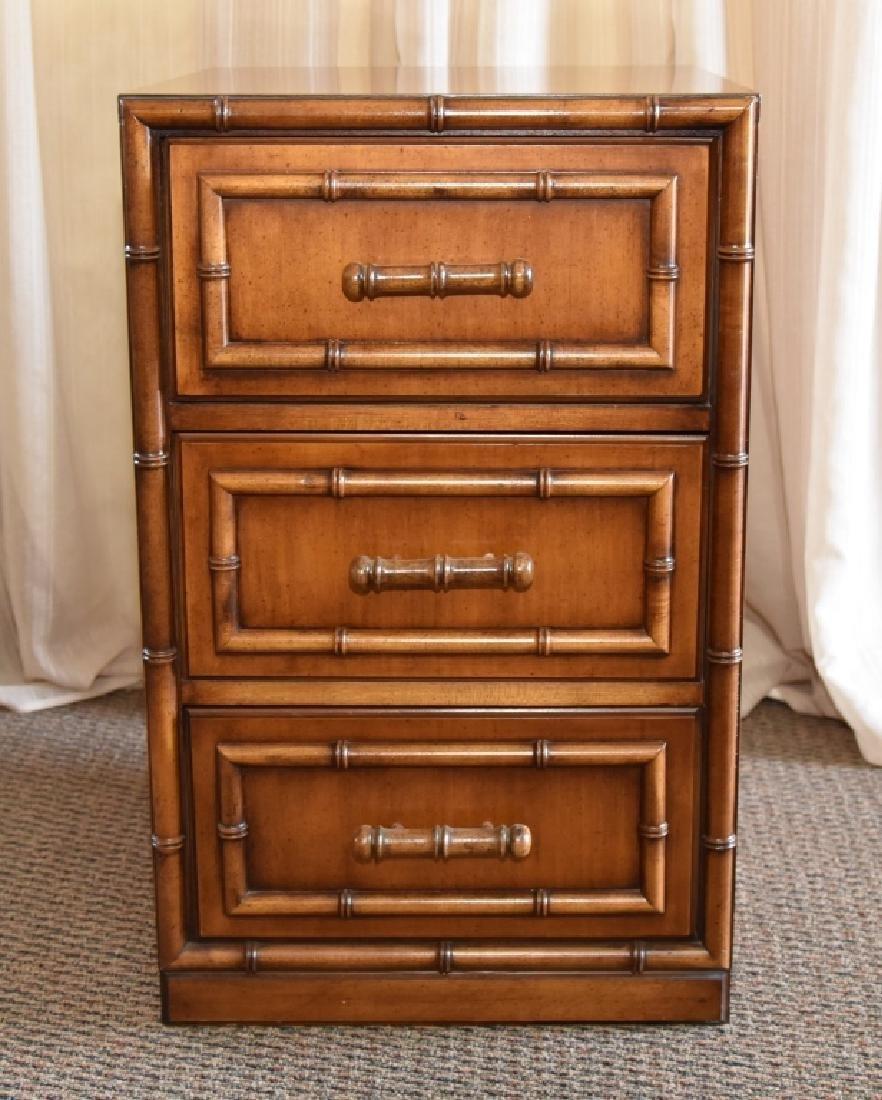 Bamboo Design 3-Drawer Cabinet