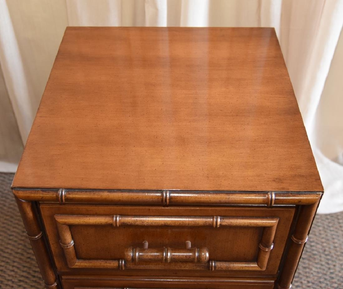 Bamboo Design 3-Drawer Cabinet - 2