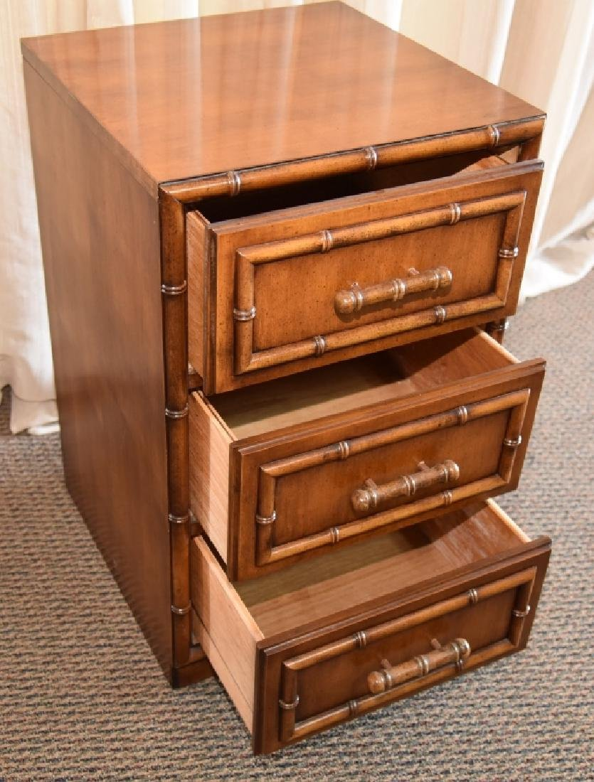 Bamboo Design 3-Drawer Cabinet - 3