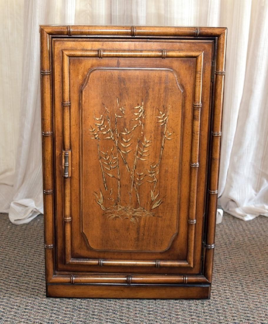 Bamboo Design One Door, One Shelf Cabinet