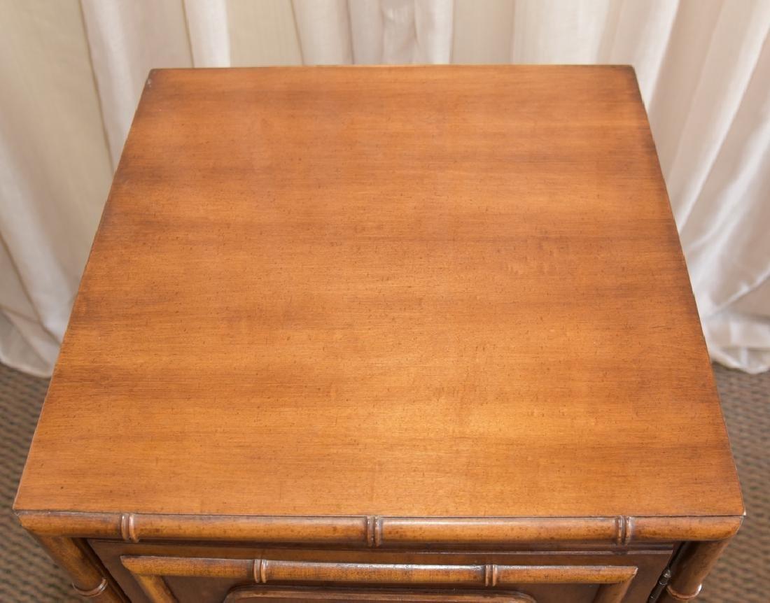 Bamboo Design One Door, One Shelf Cabinet - 2