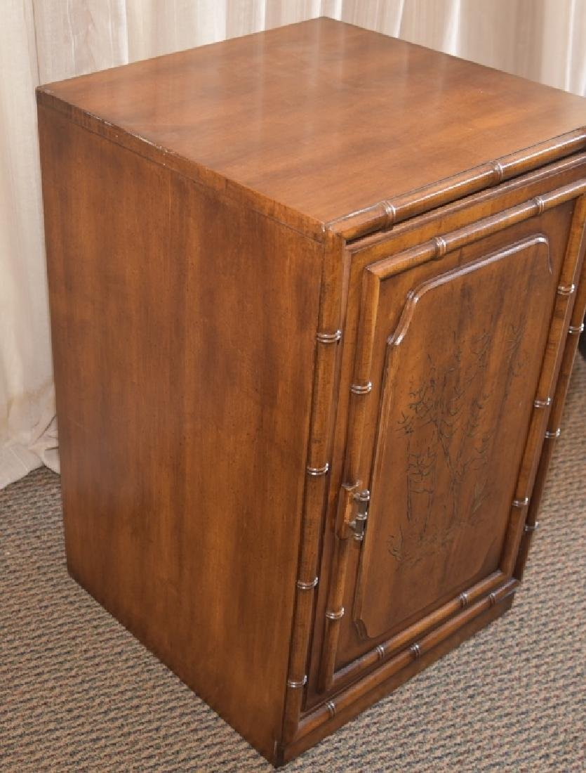 Bamboo Design One Door, One Shelf Cabinet - 3