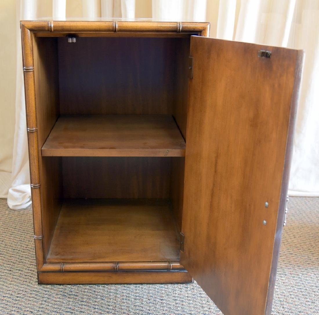 Bamboo Design One Door, One Shelf Cabinet - 4