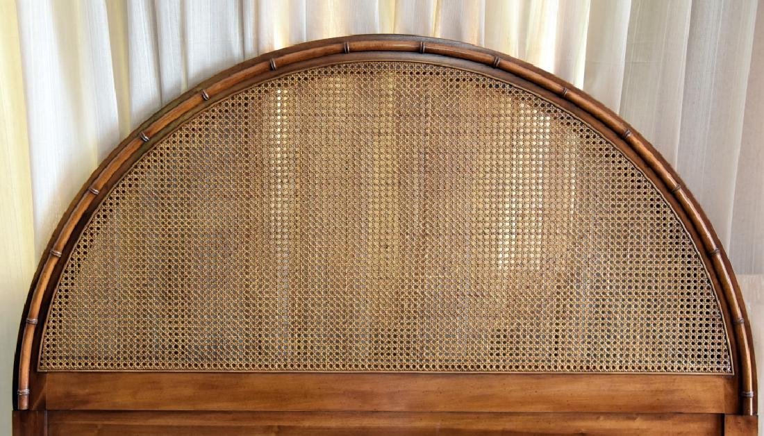 Arched Cane & Bamboo Design Queen-size Headboard - 2