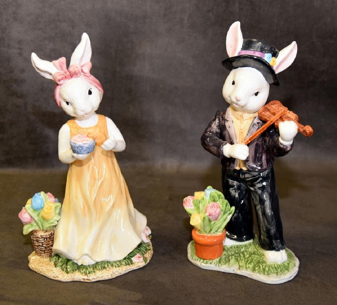 Male & Female Rabbit Figurines