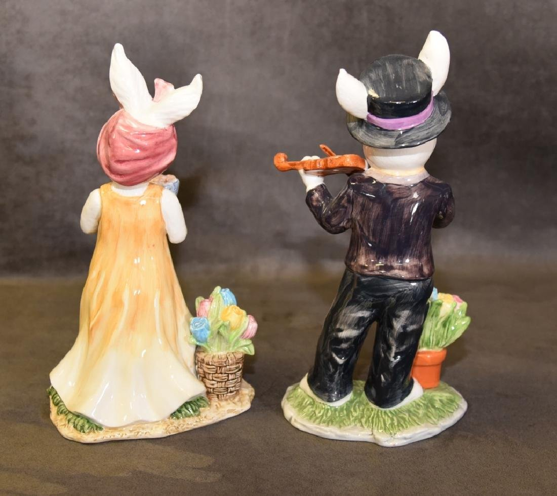 Male & Female Rabbit Figurines - 2