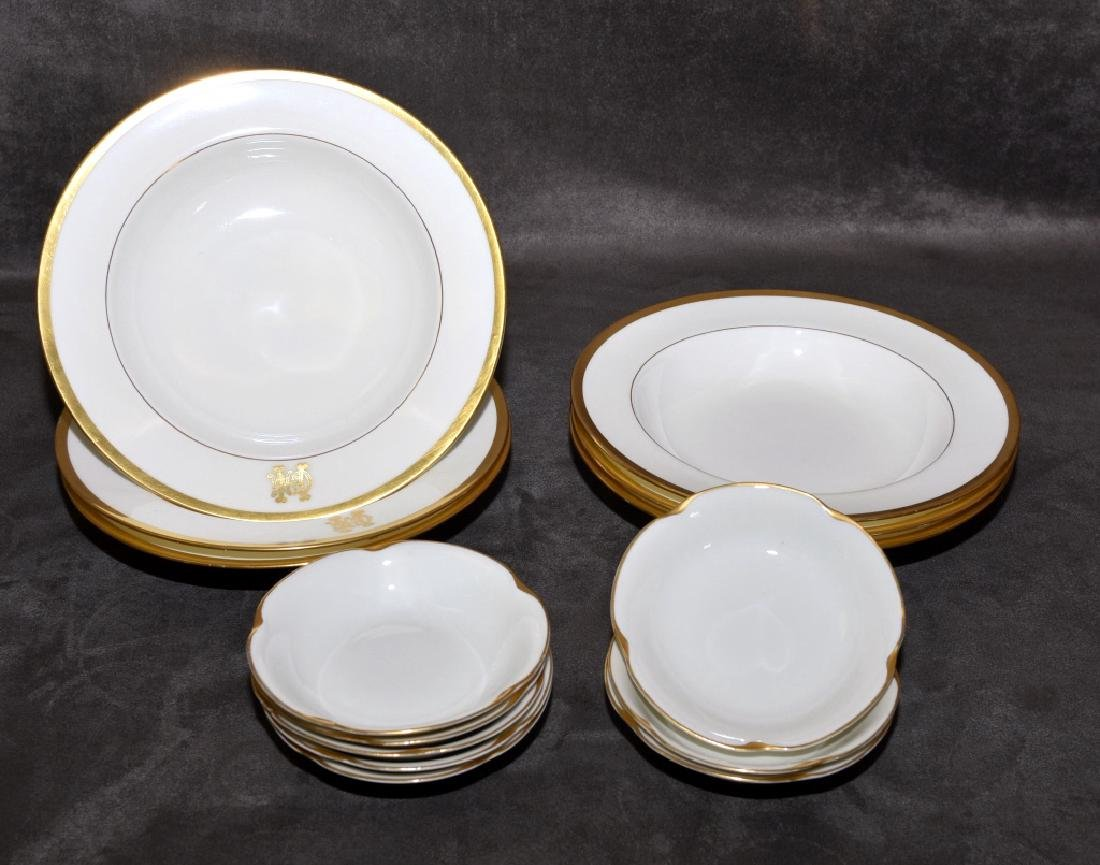 Gold Trimmed Soup and Fruit Bowls