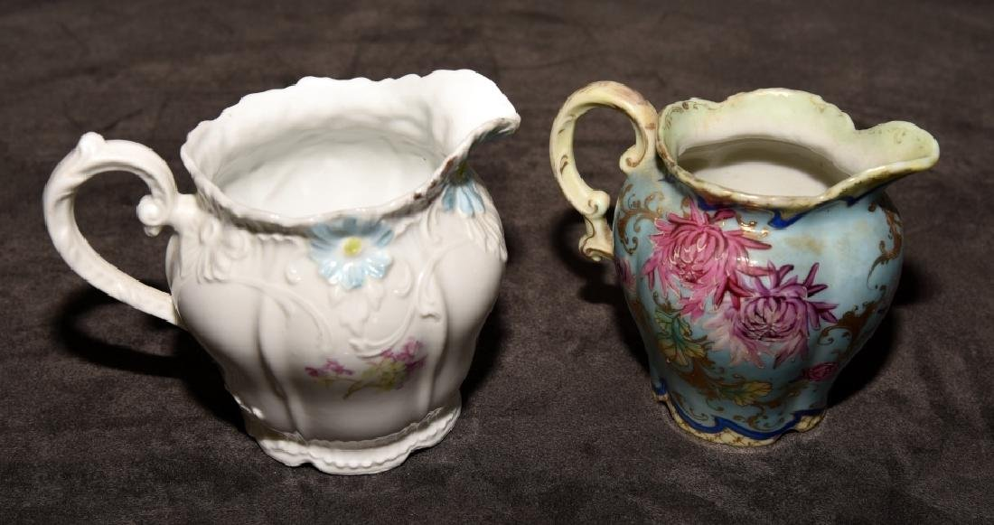 Ceramic Floral Decorated Pitchers & Pin Dish - 3