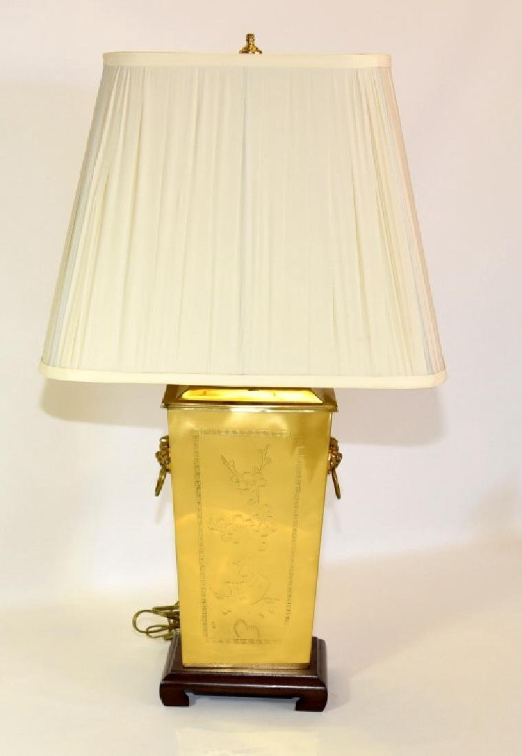 Bright Brass Oriental Design Lamp